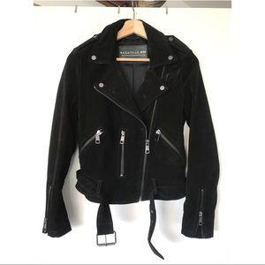 02556bd193 ... Bagatelle black suede leather moto jacket S